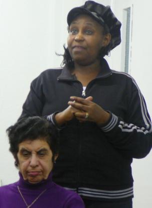 Cecilia speaks, while Mehru listens